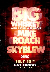 Big Whiskey, Mike Roach & Sky Blew Showcase
